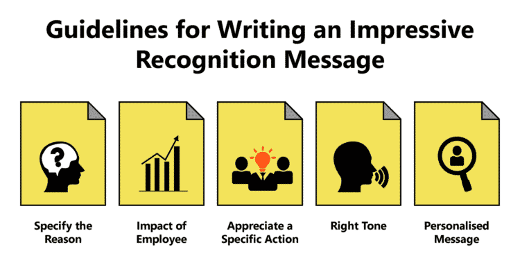 best messages for employee recognition under various categories